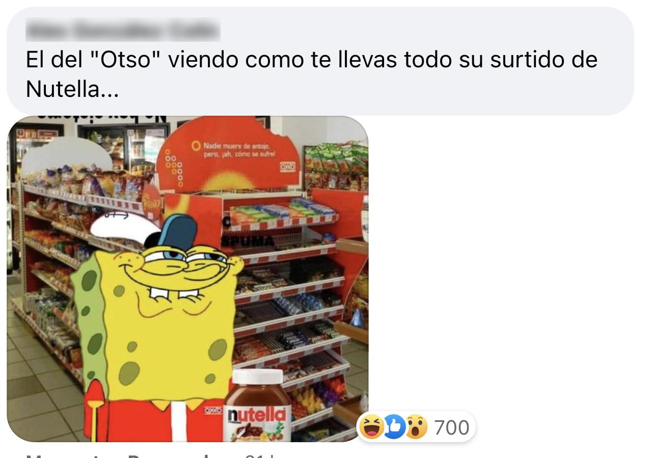Oxxo nutella meme