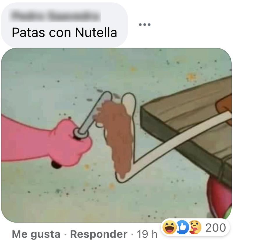Patas con Nutella meme