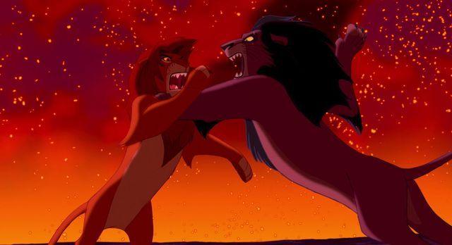 disney el rey león simba vs scar