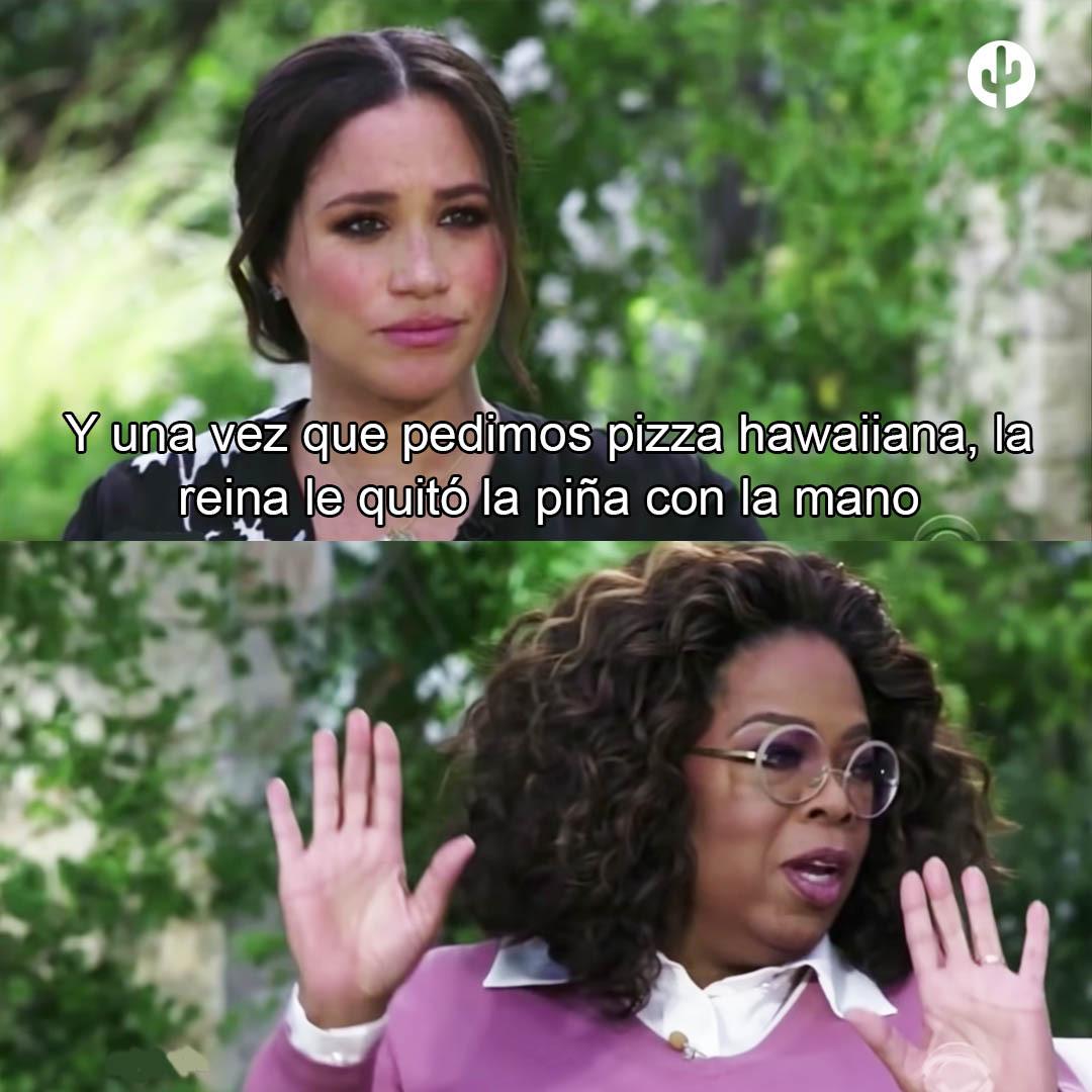pizza meghan oprah meme the crown
