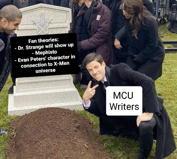 wandavision mcu writers meme