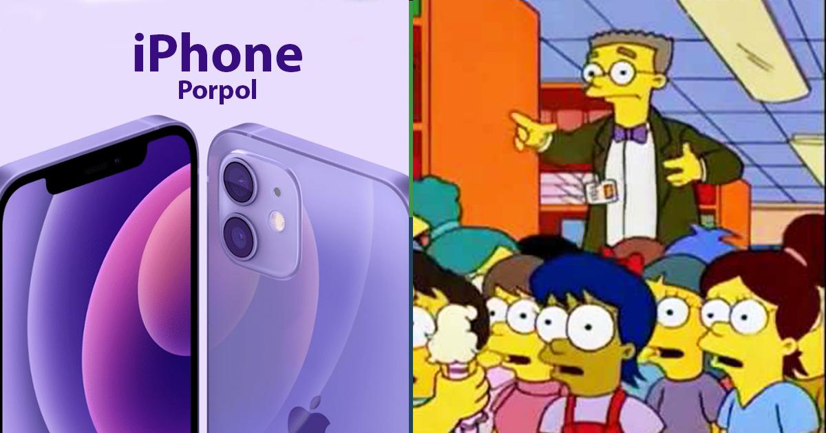 Cover Iphone Morado Apple