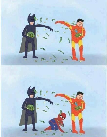 iron man batman spider man meme
